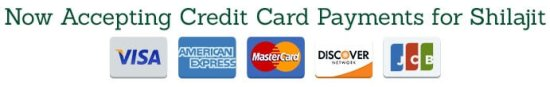 credit cards shilajit