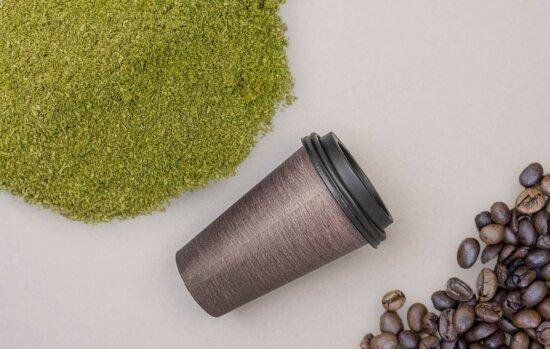 Mitragynina Speciosa Kratom Powder Coffee Cup And Coffee Beans