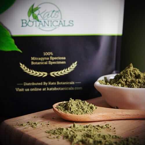 green malay kratom powder packaging