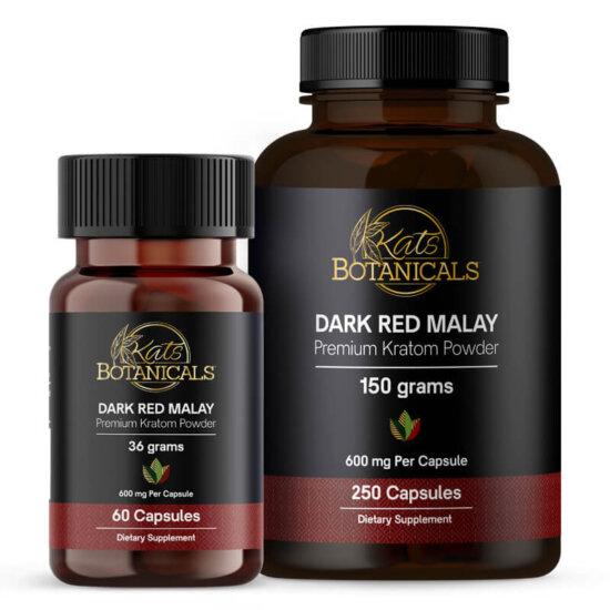 Dark Red Malay Kratom capsules