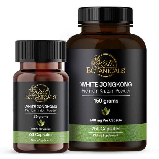 White JongKong Kratom capsules