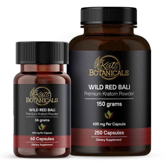 Wild Red Bali Kratom capsules