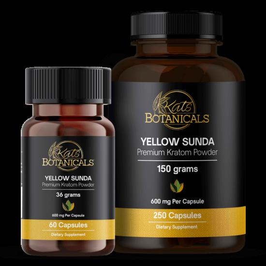 Yellow Sunda Kratom capsules